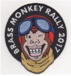 Brass Monkey Rally patch label merchandise.